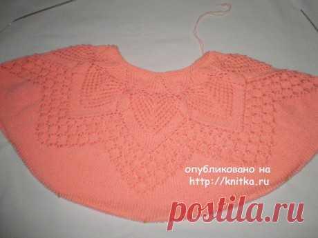 Ажурный женский свитер спицами. Работа Ирины Стильник, Вязание для женщин