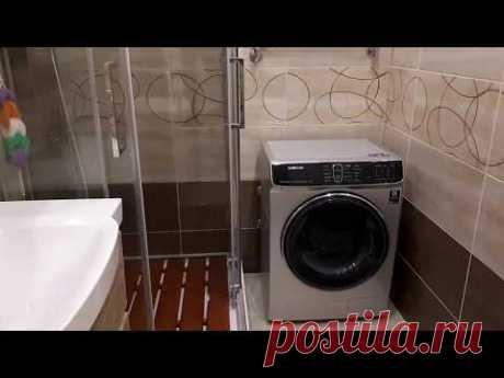 Душевая кабина в ванной комнате. Комплексный ремонт санузла.