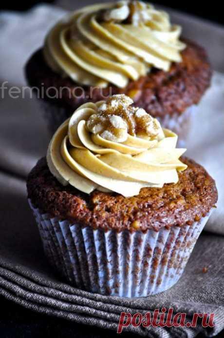Рецепт вкусных кофейных капкейков с кремом | FEMIANA