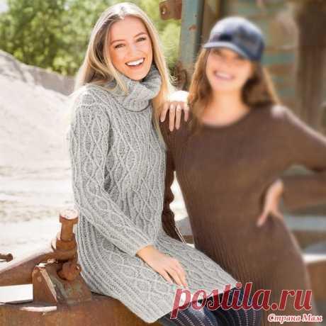 . Тёплое платье с высоким воротником - Вязание - Страна Мам