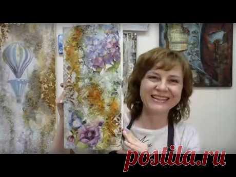 Камень, ржавчина и блеск: открытый вебинар и мастер-класс Натальи Жуковой по микс медиа арт декору
