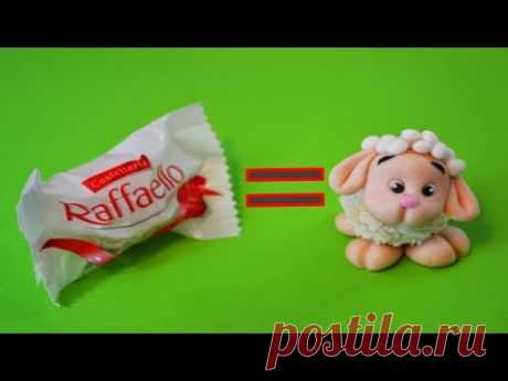 how to make SHEEP RAFFAELLO CAKE TOPPER FONDANT - tutorial pecorella pasta di zucchero torta
