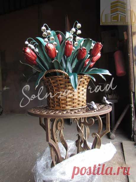 Букет цветов из металла
