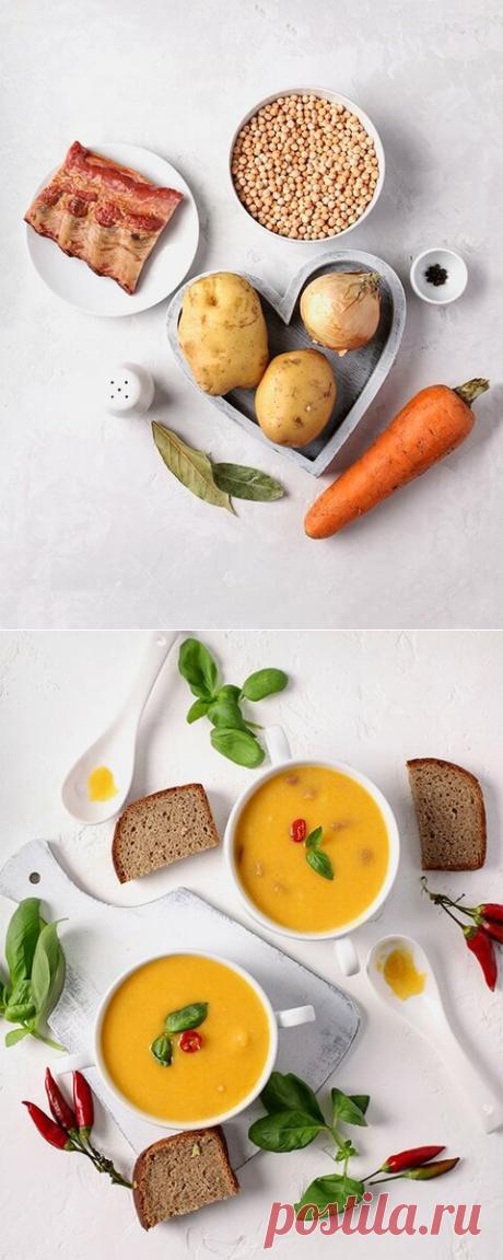 Гороховый суп с копчеными ребрышками | Рецепты от шеф-поваров👨🍳 | Яндекс Дзен
