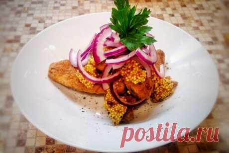 Жареная сельдь с горчицей и красным луком рецепт – закуски. «Еда»