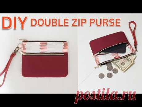 DIY Double zip pouch/Easy sewing pouch making/지퍼파우치 만들기/쉬운바느질[jsdaily]
