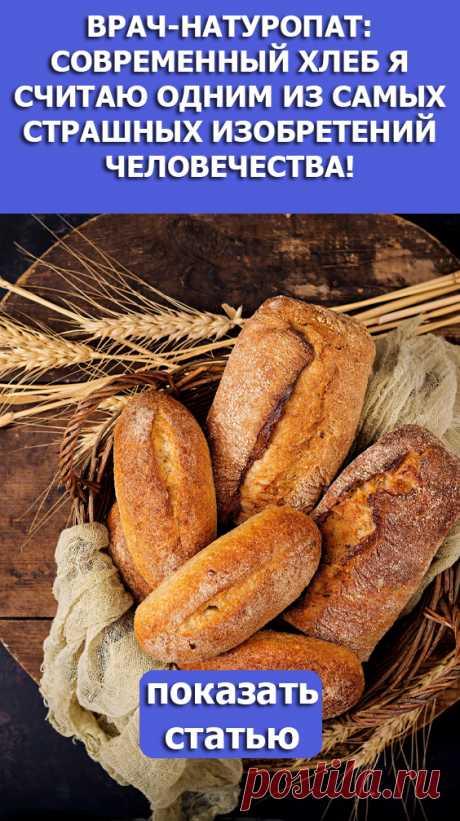 Смотрите! Врач-натуропат: Современный хлеб я считаю одним из самых страшных изобретений человечества