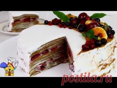 Торт БЕЗ ДУХОВКИ Потрясающий Блинный ТОРТ