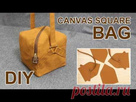 I created a Canvas Square Bag this time. It is a handmade cross-bag suitable for casual. Have a great time! Share this video with a lot of people who need it...