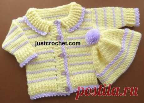 6-12 Month Baby crochet pattern JC163C