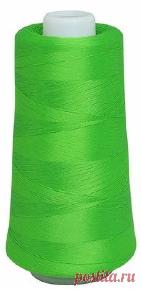 Нить текстурированная некрученая Астра, цвет: 5182 салат, 150D/1, 5000 ярдов