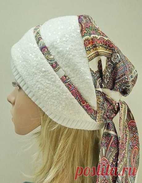 We sew an original headdress