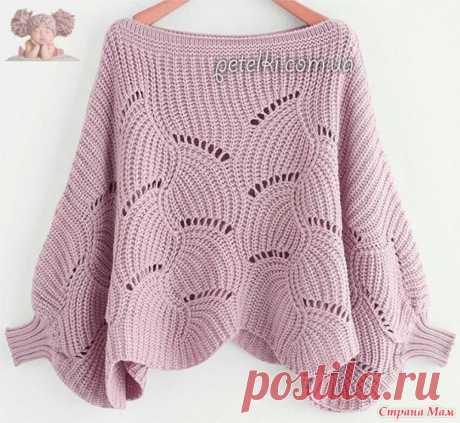 . Очень красивый пуловер такого нежного цвета! - Вязание - Страна Мам