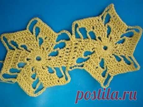 Вязание крючком 240 соединение мотивов 9 Joining Crochet Motifs