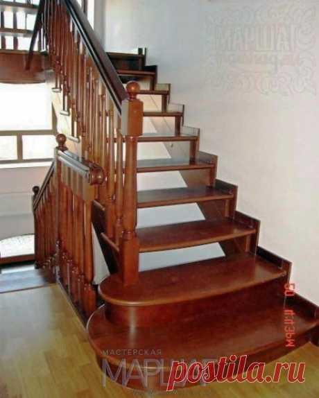 Изготовление лестниц, ограждений, перил Маршаг – Ограждения из дерева твердолиственных пород