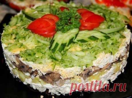 """Изысканный салат """"Венеция"""" - гурманы оценят! Прекрасный вариант на праздники!"""