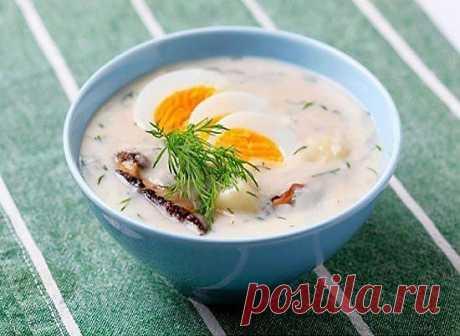 Французский куриный суп-пюре.