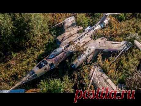 Чисто случайно нашла кладбище с секретными самолетами которые никто никогда не видел - YouTube