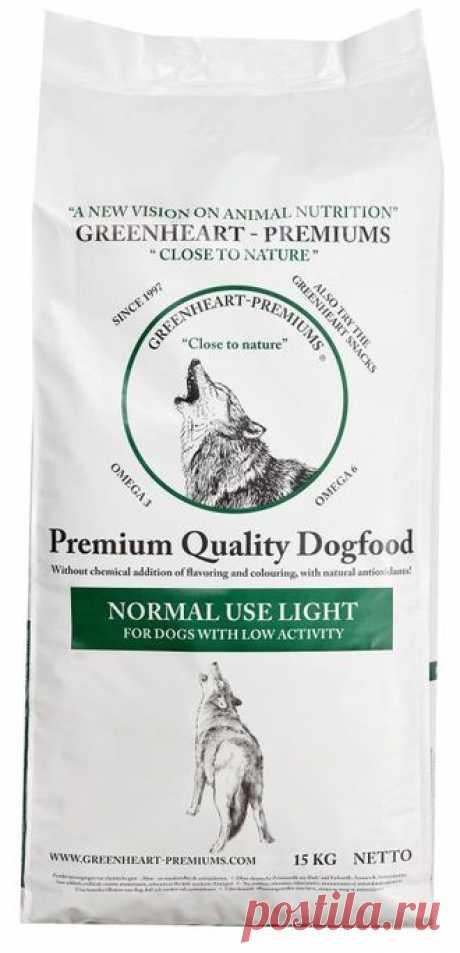 GreenHeart Normal Use Light-сухой корм для собак всех пород с нормальным уровнем активности. Для собак склонных к полноте. Контроль веса.