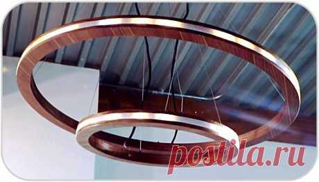 Светодиодная люстра «кольца Сатурна» своими руками Здравствуйте, уважаемые читатели и самоделкины!Последнее время появляется все больше разнообразных светильников, основанных на светодиодных лентах. Это не только весьма экономичный источник света, но и возможности плавной регулировки яркости, цветового оттенка. Кроме того, можно создавать самые