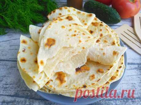 Как приготовить тонкий армянский лаваш дома: рецепт с фото
