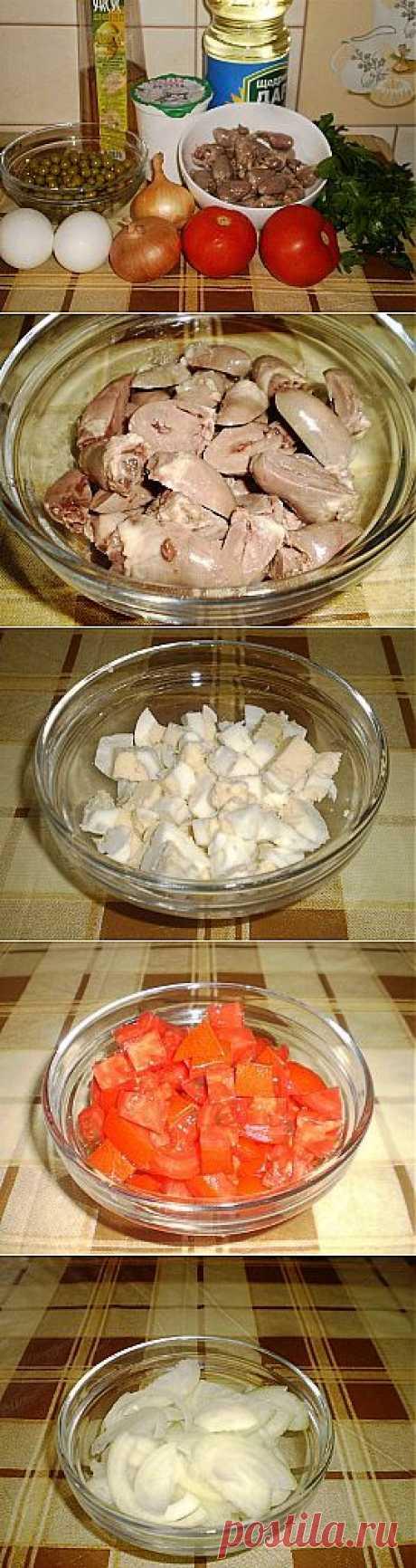 Салат из куриных сердечек — лёгкий и вкусный деликатес   Любимые рецепты
