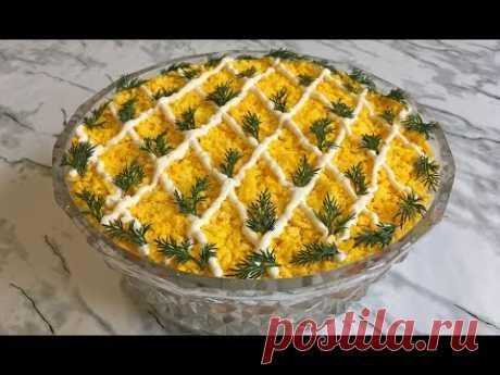 """Салат """"Печенкин"""" Ооочень Вкусно Идеальное Блюдо на Праздничный Стол!!! / Liver Salad"""