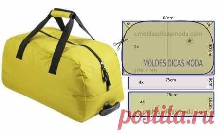 Выкройка спортивной или дорожной сумки