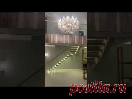 Консольная лестница со стеклянным ограждением СтаирсПром