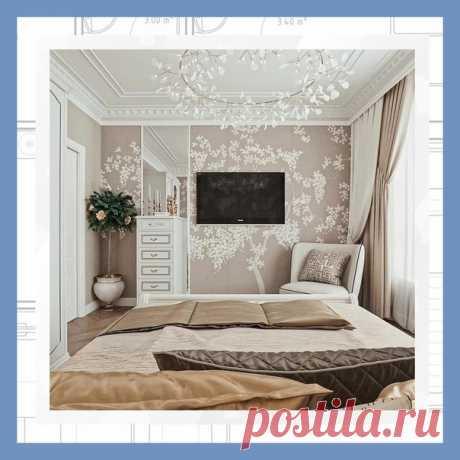 Все о дизайне интерьера Современный домашний интерьер + мягкие обои. Роскошная спальня в Ташкенте.