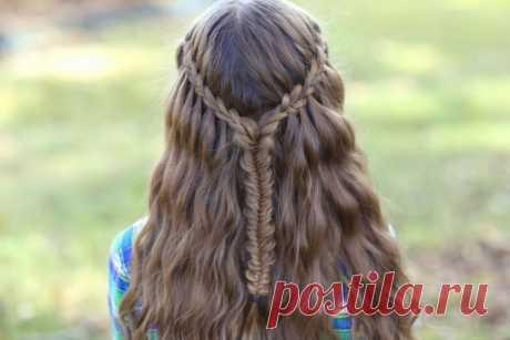 Прическа водопад — схемы плетения, особенности оформления и ухода