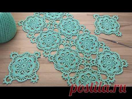 Ажурный КВАДРАТНЫЙ МОТИВ вязание крючком  Crochet square motifs
