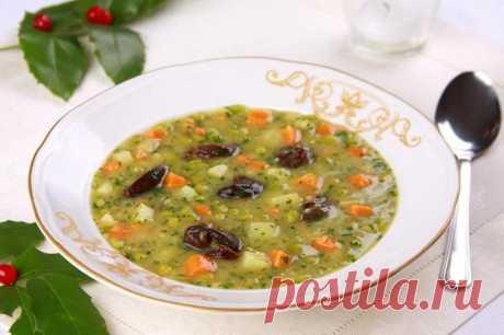 Суп из зеленого сухого гороха с черносливом – пошаговый рецепт с фото.