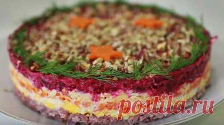 Слоеный салат «Король в гневе» готовлю на Новый год вместо шубы, дражайший супруг доволен и сыт | Цветик-семицветик