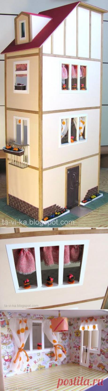 Кукольный домик из ДВП - Как сделать Кукольный домик,кукольную мебель,кукол и кукольную миниатюру.