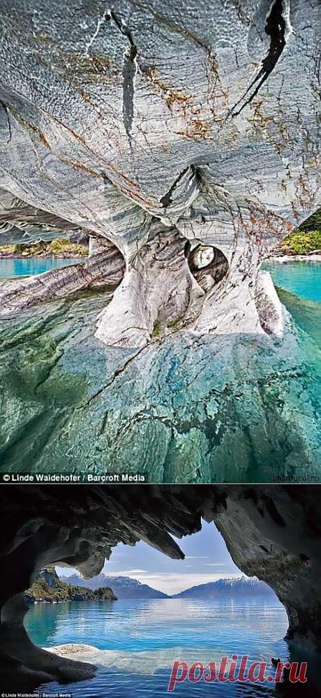Мраморный Собор: сказочно красивая сеть естественных пещер в Чили   Необычный
