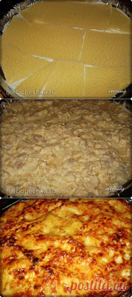 Лазанья с курицей (в пиццамейкере Princess 115000) - Хлебопечка.ру
