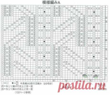 Великолепный японский ажур. Схема