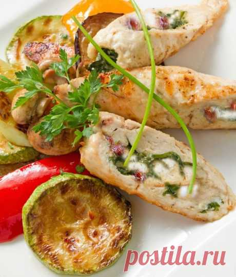 Жареные роллы из индейки со сливочным сыром — Sloosh – кулинарные рецепты