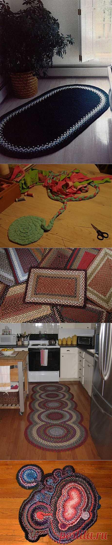 Плетеные коврики в домашнем интерьере.