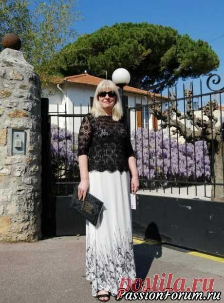 Моя черная, ажурная, на все случаи жизни. СХЕМА - запись пользователя Мадам Лаваль (Марина) в сообществе Вязание крючком в категории Женская одежда крючком. Схемы и описание