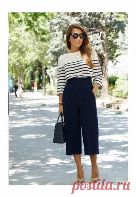 Стильные образы с широкими брюками