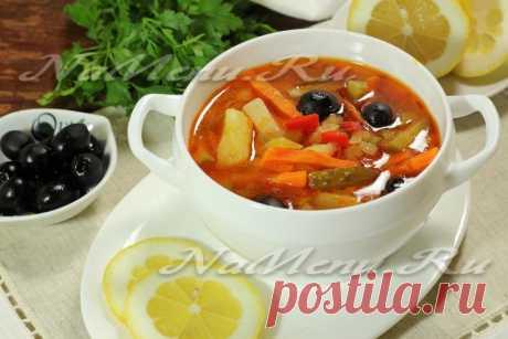 Постная овощная солянка: рецепт с фото