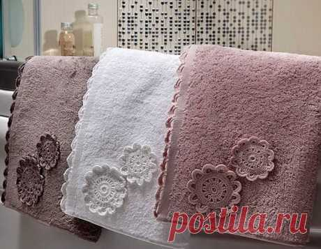 Как можно преобразить полотенце, если умеешь вязать крючком. | Марусино рукоделие | Яндекс Дзен