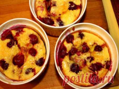 Сливочный пудинг с вишнями по легкому рецепту Юлии Высоцкой