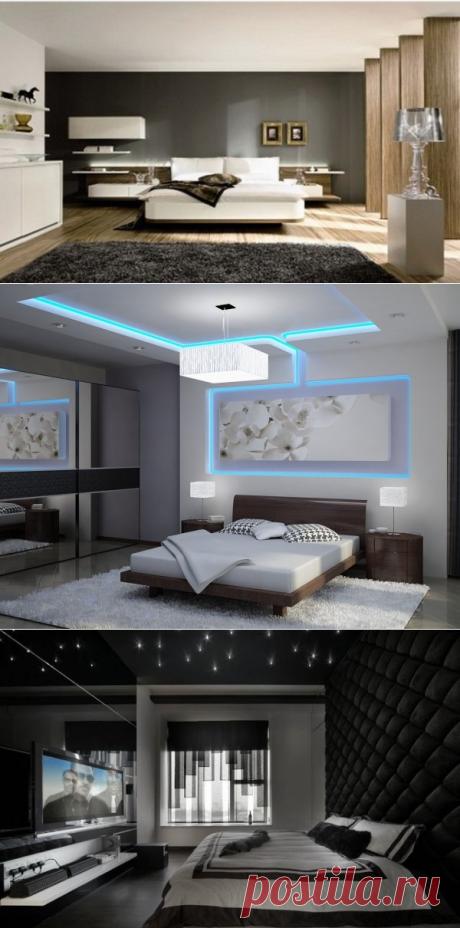 Спальня в стиле хай тек фото, дизайн спальни в стиле хай тек, как обустроить спальню хай тек