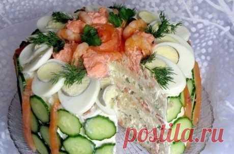 Салаты-торты - Кулинария
