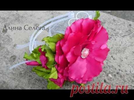 МК большой цветок на ободке и поясе / МК Алина Селега