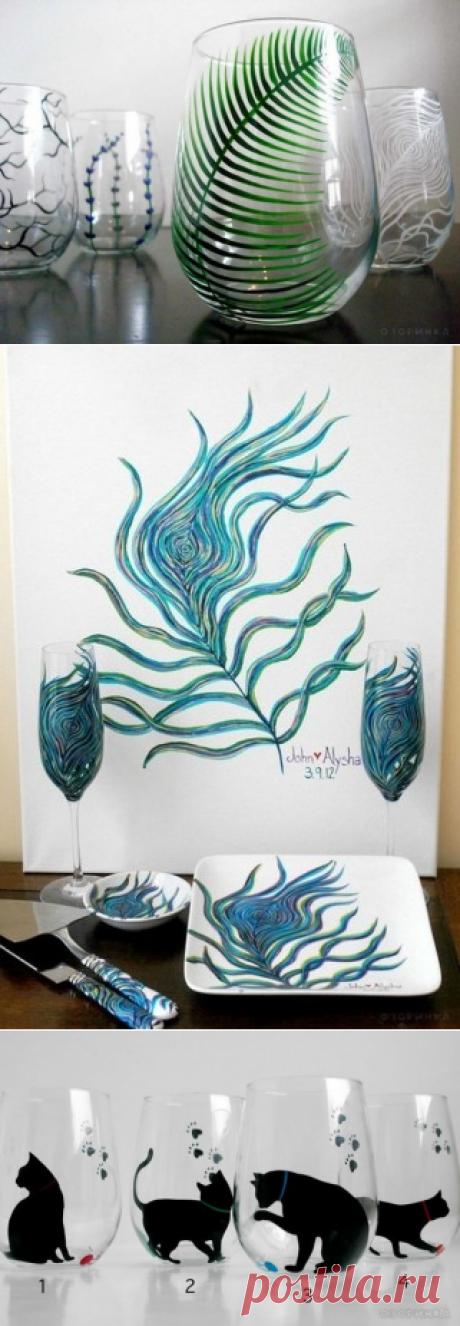 Идеи для росписи посуды.
