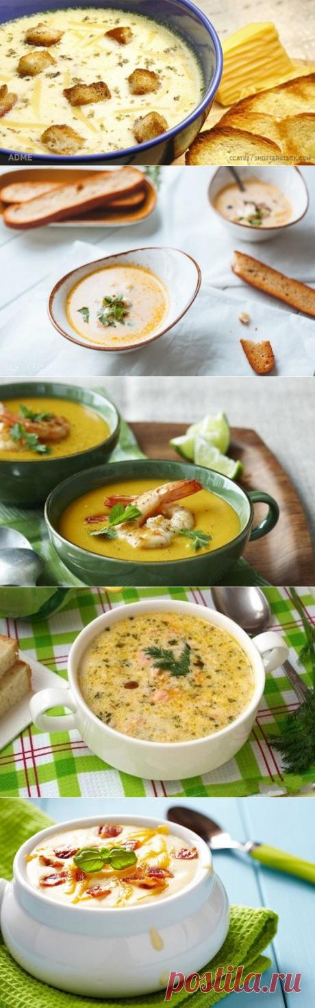 6 вкуснейших и очень простых сырных супов
